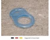 Silikonring (Schnuller Adapter) | Schnullerhalter für Baby Schnullerketten ohne Befestigungsring | blau