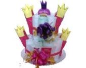 Windeltorte Schloß | Prinzessin Sternenzauber | Das perfekte Geschenk zur Geburt & Taufe