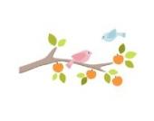 Obstgarten Zweig mit Vögeln (Recht) Wandtattoo von Stickerscape - Wandaufkleber (Reguläres Größe)