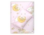 4tlg. Babybettwäsche Set Baumwolle Kinderbettwäsche Bettwäsche Baby Decke Kissen D18