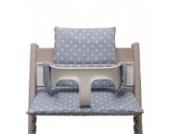 Blausberg Baby - Sitzkissen *41 FARBEN* Kissen Polster Set für Stokke Tripp Trapp Hochstuhl alle Materialien OEKO-TEX ® Standard 100 zertifiziert - 100% made in Hamburg (Grau Punkt)