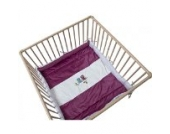 Be Be's Collection 302-72 Laufgittereinlage Motiv Eule fuchsia 75/100x100cm