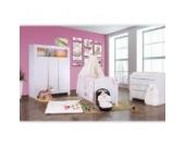 Babyzimmer Felix in weiss 19 tlg. mit 3 türigem Kl von Cute Bear in rosa