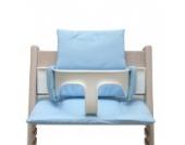 Blausberg Baby - Sitzkissen Kissen Polster Set für Stokke Tripp Trapp - Hellblau Pünktchen