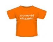 Anna & Philip Baby Kind Fun Spruch T-Shirt Orange Als Gott mich schuf Größenwahl 56/62 bis 146/152 (146/152)