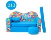 B13 Kindersofa Ausklappbar Schlafsofa Couch Sofa Minicouch 3 in 1 Baby Set + Kindersessel und Sitzkissen + Matratze