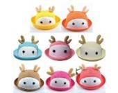 Huntgold 1X Entzückende Baby Summer Cool Cartoon Tier Hut Netzatmungsaktive Kappe Bucket Mütze (Kaffee)