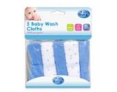 First Steps Baby Waschlappen, für Babys ab Geburt, 5 Stück
