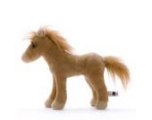 Plüschtier Pferd Goldi - braun - von STEINER - Kuscheltier handgefertigt in Deutschland