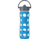 Lifefactory Glas Trinkflasche mit Straw Cap
