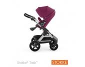STOKKE ® Trailz™Gestell und Sitz mit Geländerädern Purple - lila