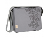 LÄSSIG Wickeltasche Casual Messenger Bag Flornament ash - grau