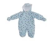 Baby Schneeanzug mit Kapuze, Dinosaurier (Neugeborene) (Blau)