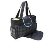 2 tlg Baby Farbe silber schwarz Wickeltasche Pflegetasche Windeltasche Babytasche Reise Farbauswahl