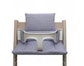 Blausberg Baby - Sitzkissen *41 FARBEN* Kissen Polster Set für Stokke Tripp Trapp Hochstuhl (Regent Lila Flieder) alle Materialien OEKO-TEX ® Standard 100 zertifiziert - 100% made in Hamburg