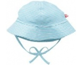 Zutano Unisex-Baby Newborn Candy Stripe Sun Hat, Pool, 3 Months Color: Pool Size: 3 Months