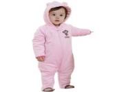 MIKIKIDS Baby Overall Kinder Unisex Schlafanzug Flannel Baumwolle Fleeceanzug Affe Durcken Schneeanzug Winter Jumpsuit mit Kapuze 90 Lang - Rosa