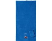 Kinderbutt Frottier-Set 2-tlg. inkl. Bestickung Frottier blau Größe 70x140 cm + 15x21 cm
