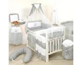 9tlg Babybettwäsche 135x100cm Kinderbettwäsche Bettwäsche Himmel Nestchen Set (D2)
