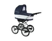 Kinderwagen Kombikinderwagen 3 in 1 Sportwagen Babyschale Verona Eko Chrome blau weiß 1verona eko chrome 05