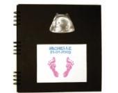 Baby Art 549216 - Photo Album mit Stempel für Fußabdruck, schwarz