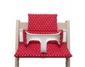 Blausberg Baby - Sitzkissen *41 FARBEN* Kissen Polster Set für Stokke Tripp Trapp Hochstuhl (Rot Sterne) alle Materialien OEKO-TEX ® Standard 100 zertifiziert - 100% made in Hamburg