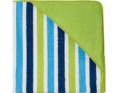 Kinderbutt Kapuzenbadetuch Frottier grün/grün-gestreift Größe 140x140 cm