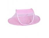Faltbares Sommer Baby-Bett Spielraum-Zelt mit Moskitonetz Insektennetz (Pink)