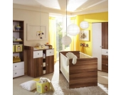 TiCAA Babyzimmer Milu 2-türig walnuss - weiß