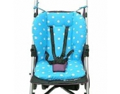 Universal Kinderwagen Sitzauflage Baumwolle, Buggy Auflage (Blau)