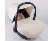 BAMBINIWELT kompl. Ersatzbezug für Maxi-Cosi CabrioFix 7-tlg, Bezug für Babyschale, Sommerbezug Cabrio Fix (Marineblau/Beige)