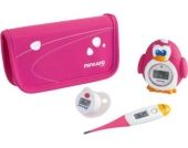 Baby- Thermometer Set Thermokit, pink, 3-tlg.