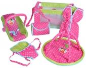 Knorrtoys Heidi 9-teiliges Puppenzubeh�r Set (Pink-Gr�n) [Kinderspielzeug]