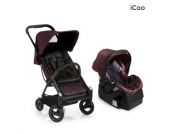 Icoo Buggy Acrobat Shop´n´Drive Fishbone bordeaux - rot
