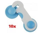 10 x Schrankschloss Kindersicherung Schranksicherung Baby Sicherheit Tür Schublade Schrank Sicherung