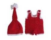 Smile YKK 1 Paar 0-6 Monate Baby Tier Muster Baby Junge Strick Kleider Fotografie Props 0-6 Monate Weihnachten Stil Rot