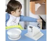 Beste Magnetschloss - Die Unsichtbare Kindersicherung, Magnetisches Schrankschloss Ohne Schrauben, 4er Pack +1 Key