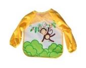 Hengsong Cute Baby Kinder Bunte Wasserdicht Ärmellätzchen (Gelb)