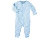 wellyou Schlafanzug 1/1-Arm hellblau-weiß, einteilig