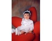 Nr. 16 Taufkleid f�r kleine Prinzessinen WEISS Gr��e 62-68