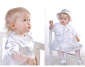 SWEET MOMENT`s Nr. 9.1 PRINZESSIN Taufkleid mit Boleroj�chen und Hut WEISS Gr��e 62-98