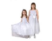 Nr. 301.1 Kommunionkleid Blumenkindkleid Taufkleid Festkleid Kleid WEISS Gr��e 74-110 / 1-5 Jahre