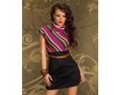 Minikleid / Kleid MULTICOLOR black/pink Gr��en XS S M