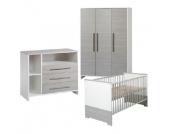 Schardt Kinderzimmer Eco Silber 3-türig - grau - Gr.70x140 cm