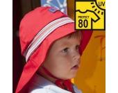 Pickapooh - Hut Feuerwehr UV-Schutz 80 rot Strick, kbA