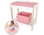 Hape Puppenwickeltisch (Weiß-Rosa) [Kinderspielzeug]
