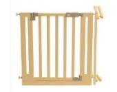 roba Türschutzgitter, Schutzgitter aus Holz, variable Breite 81-90cm, Tür- und Treppengitter für Kinder und Haustiere