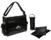 Kalencom Fashion Wickeltasche Monique Buckle Bag, schwarz