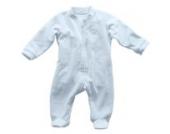 LUCE Bio Baby-Strampler / Baby-Schlafanzug Langarm (Nicky) LUCE Bio Blau-Größe 4 (74 – 80 cm)