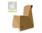 knikits Kinderstuhl aus Pappe, Pappstuhl fertig aufgebaut